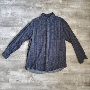 Claiborne long sleeve pattern button-up